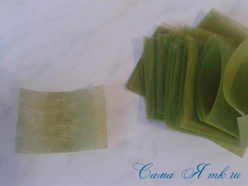 Фруктовый топиарий из тонкого флористического фетра методом торцевания своими руками 8