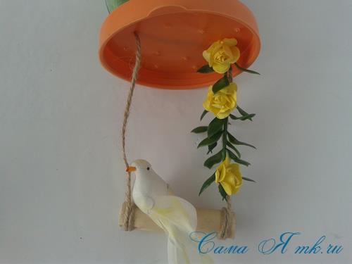 лето в банке птичка с гнездом в баночке с сизалем своими руками 10 (Copy)