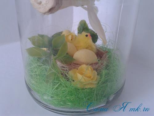 лето в банке птичка с гнездом в баночке с сизалем своими руками 21 (Copy)