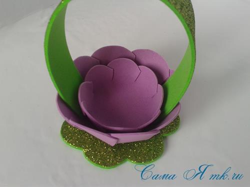пасхальная корзинка из фоамирана фома поделки и сувениры своими руками 14