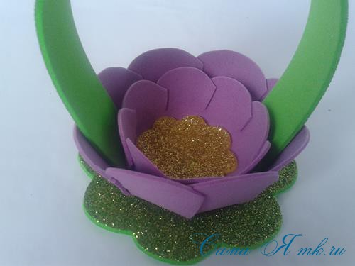 пасхальная корзинка из фоамирана фома поделки и сувениры своими руками 22