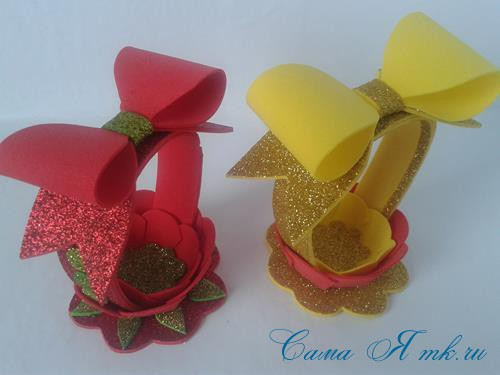 пасхальная корзинка из фоамирана фома поделки и сувениры своими руками 25